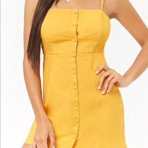 Linen Blend Mini Dress